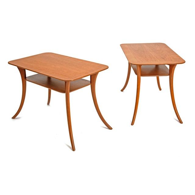 Widdicomb 1950s Terence Harold Robsjohn-Gibbings Klismos Side Tables - a Pair For Sale - Image 4 of 9