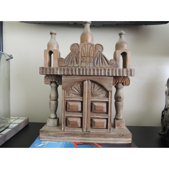 Vintage Wood Indian Hand-Carved Shrine For Sale - Image 5 of 5
