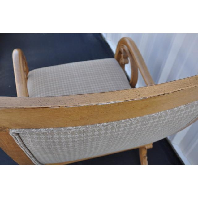 Trouvailles Hand-Carved Lounge Chair For Sale - Image 5 of 6