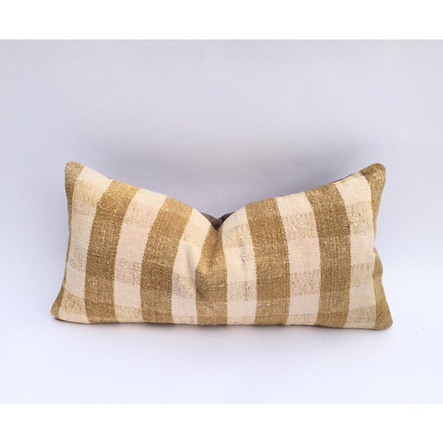 Mustard Buffalo Check Plaid Kilim Pillow Cover - Image 2 of 6