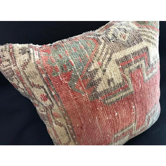 Tribal Oushak Peach Pillow Case For Sale - Image 3 of 10