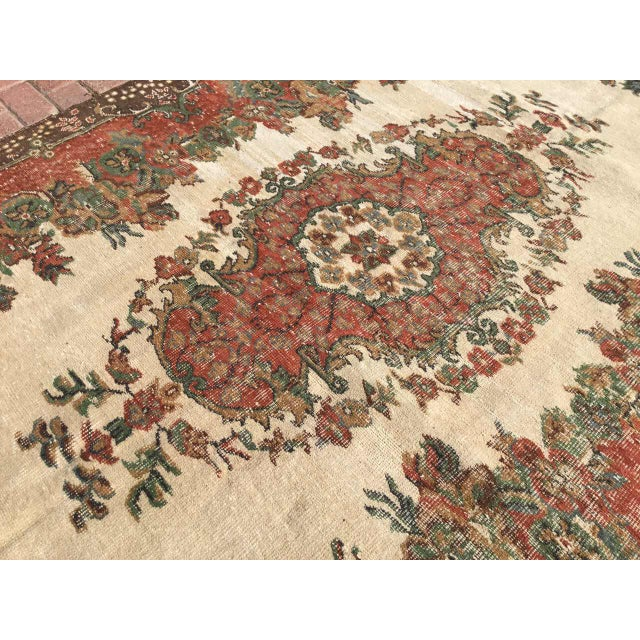 Vintage Hand Knotted Turkish Rug For Sale - Image 9 of 11