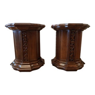 Drexel Mid-Century Italian Style End Tables - A Pair For Sale