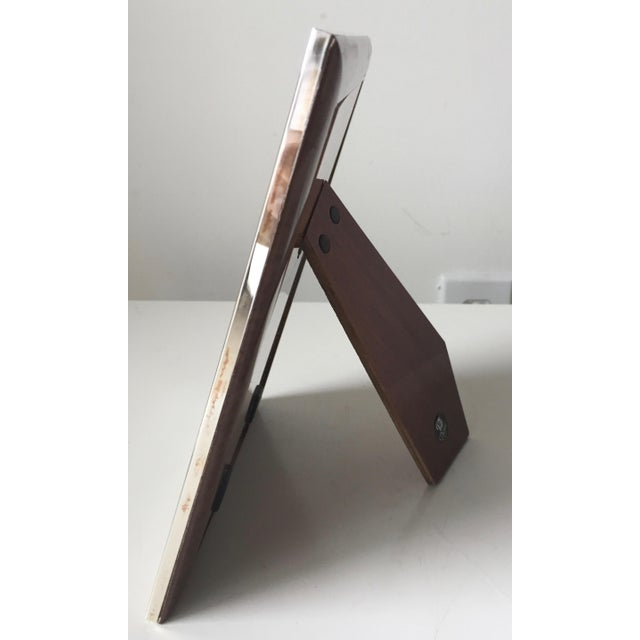 Italian Silver Frame-Lacquer Wood Easel Back | Chairish