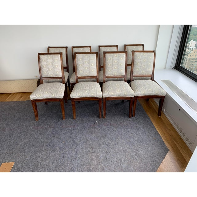 Brown Dining Chairs- Set of 8 For Sale - Image 13 of 13