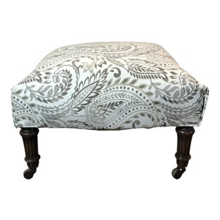 Antique Ottoman-Reupholstered For Sale
