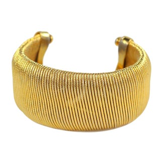 Goldtone Cuff Bracelet For Sale