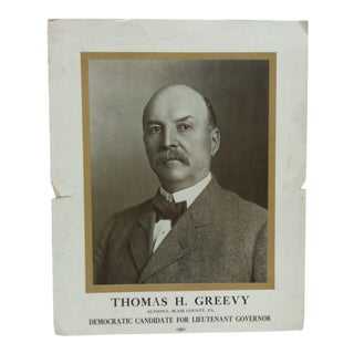 "Early 20th Century Antique ""Thomas H. Greevy"" Campaign Poster For Sale"