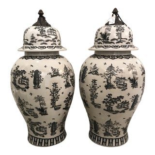 Vintage Ginger Jars - A Pair For Sale