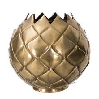 Large Brass Pineapple Vase For Sale