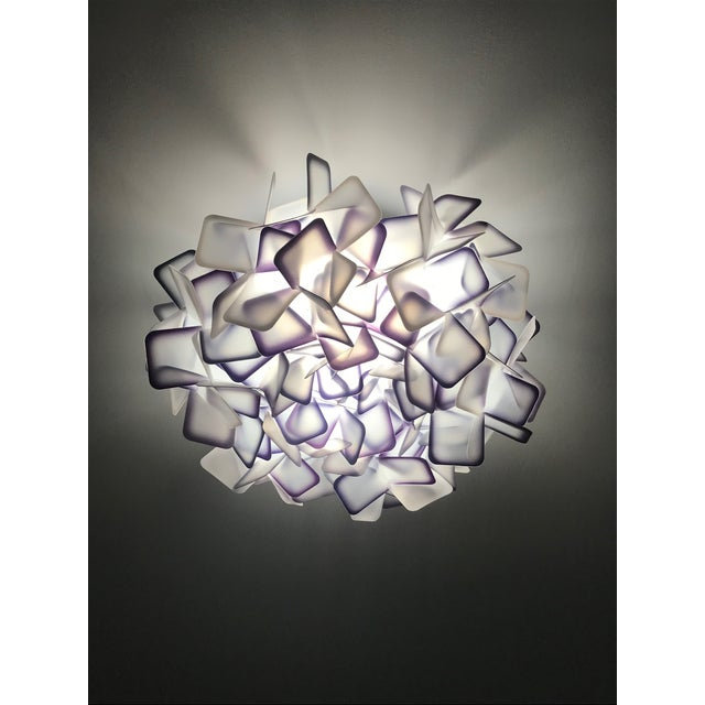 Modern Geometric Flush Mount Chandelier in Woven Resin Clusters by Slamp For Sale - Image 13 of 13
