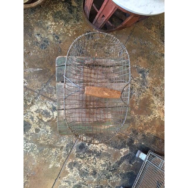 Vintage Iron Basket - Oval - Image 3 of 3