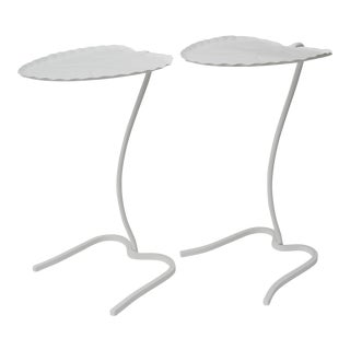 Lily Pad Tables in White - a pair For Sale