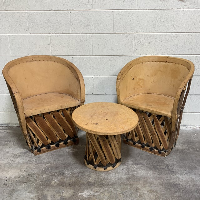 1960s Equipale Chairs and Tabl Set - Set of 3 For Sale - Image 12 of 12
