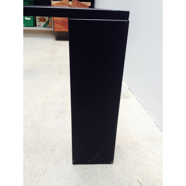 Black Italian Black Cocktail Table with Rib Glass Top For Sale - Image 8 of 9