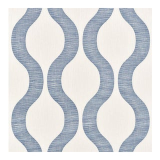 Schumaher Ondata Blue Fabric - 39 Yards For Sale