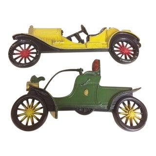 Cast Aluminum Midwest Vintage Model Car Wall Decor - Set of 2 For Sale