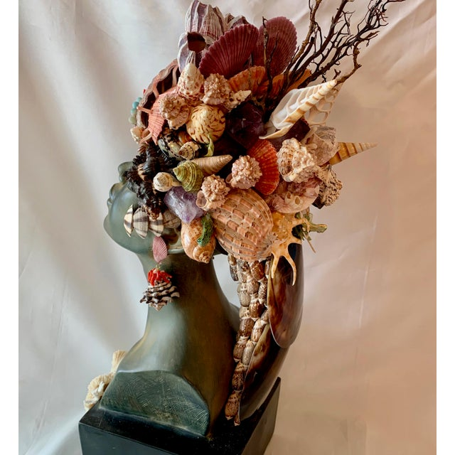 Christa's South Seashells Memsaab Ungawa Ll African Princess Sculpture For Sale - Image 4 of 8