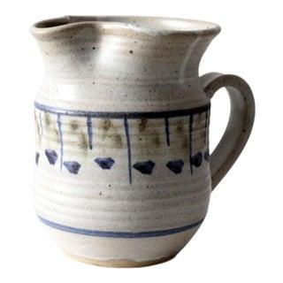 Vintage Tom Forte Studio Pottery Pitcher For Sale