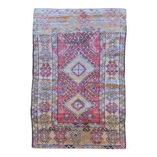 Vintage Turkish Oushak Rug - 3′4″ × 5′4″