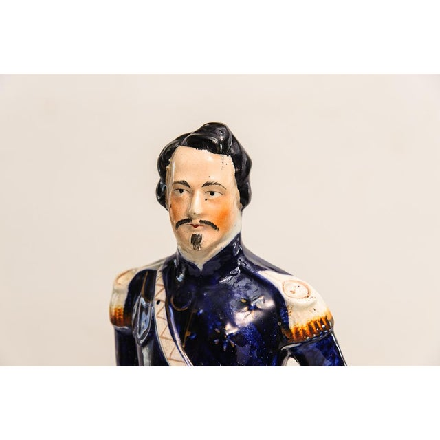 Staffordshire Potteries Antique Staffordshire Napoleon For Sale - Image 4 of 6