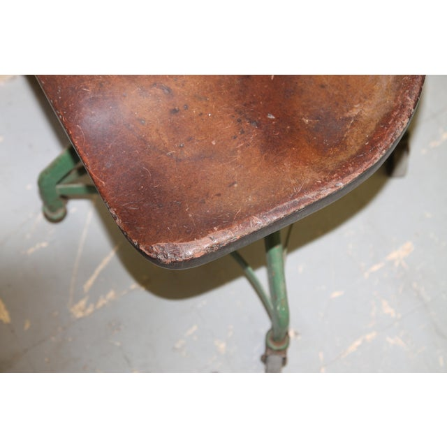 1950s Vintage Toledo Metal Furniture Co Industrial Chair For Sale In New York - Image 6 of 7