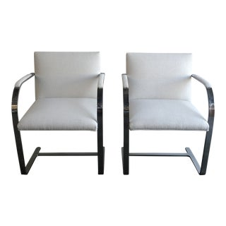 Knoll Flat Bar Chairs- a Pair For Sale