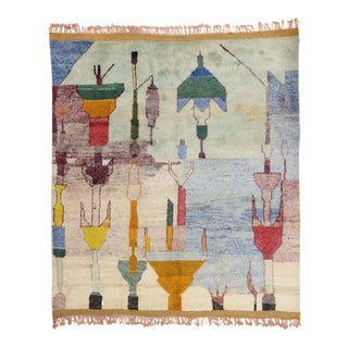 Contemporary Moroccan Rug - 10′ × 11′5″ For Sale