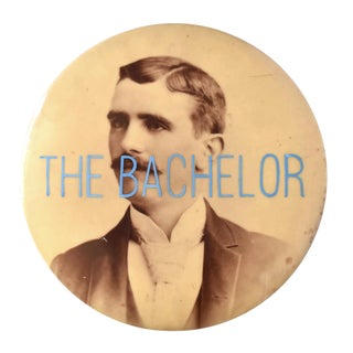 """The Bachelor"" Mixed Media Antique Celluloid Photograph For Sale"