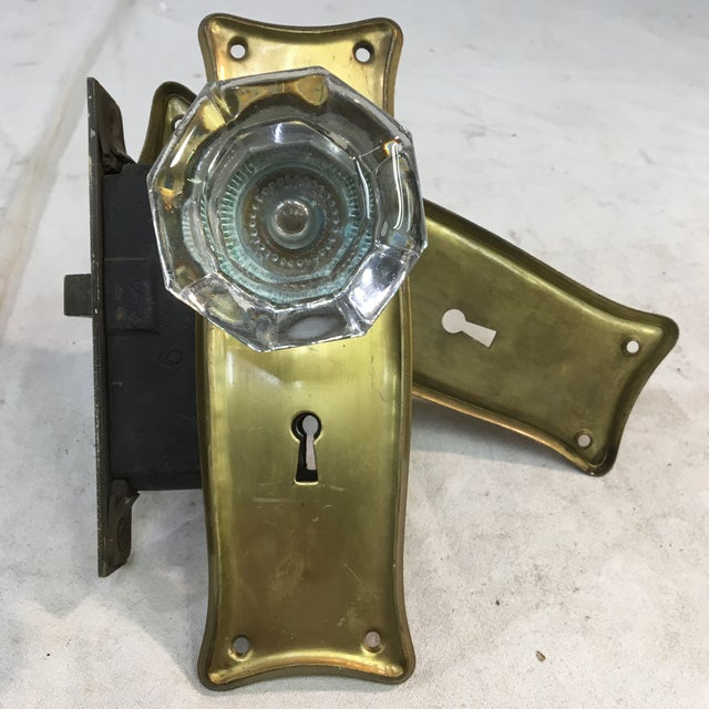 Victorian Antique Early 20th Century Art Nouveau Mortise Lock Box For Sale - Image 3 of 12