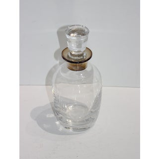 Vintage Art Deco Revival Crystal and Sterling Silver Decanter Preview