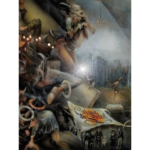 "Black Vladimir Ryklin ""Cirque De Soleil 2"" Oil Painting on Canvas For Sale - Image 8 of 9"