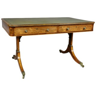 Regency Rosewood and Giltwood Writing Table For Sale