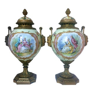 French Style Porcelain Perfume Burners - a Set For Sale
