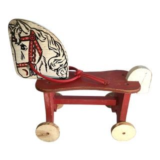 20th Century Country Horse Riding Toy For Sale