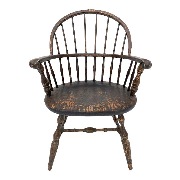 Vintage Nichols and Stone Rockport Windsor Rustic Farm House Style Chair For Sale