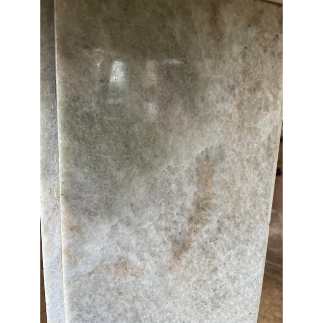 Neoclassical Circular Marble Side Table For Sale In Los Angeles - Image 6 of 10