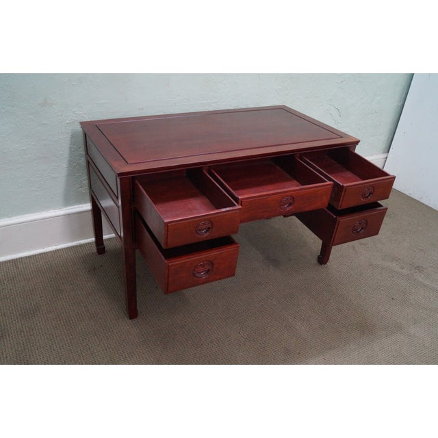 Quality Solid Rosewood Chinese Writing Desk For Sale In Philadelphia - Image 6 of 10