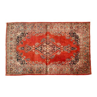 Persian Pure Silk Hand Knotted Area Rug - 3′4″ × 4′5″ For Sale