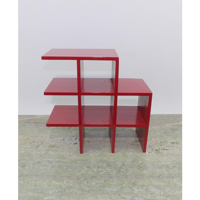 Red Wood Tabletop/Hanging Shelf For Sale - Image 5 of 8