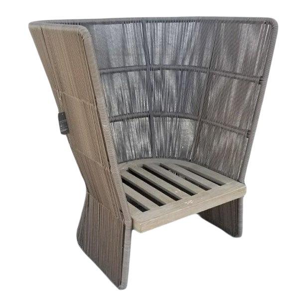 Restoration Hardware Havana Fan Chair For Sale