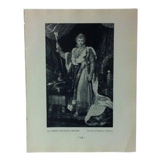 "Circa 1940 ""Portrait of Napoleon"" by Baron Francois Gerard Masterpiece of Art Print For Sale"