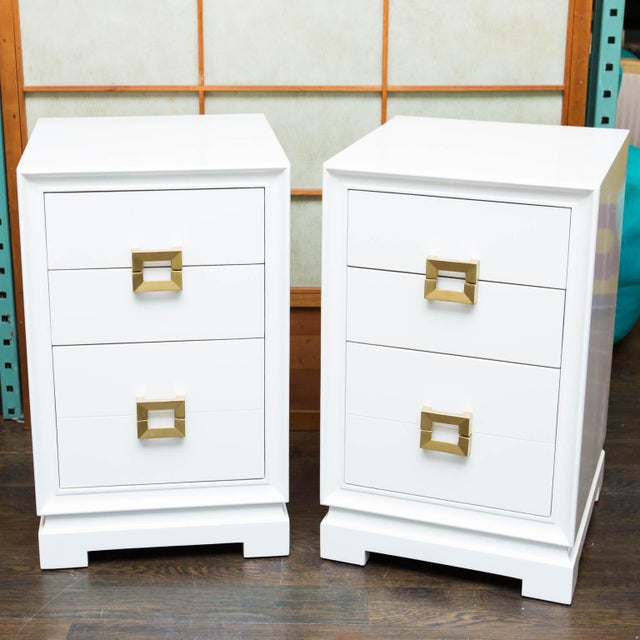 Mid-Century Lacquered Nightstands - A Pair - Image 2 of 10