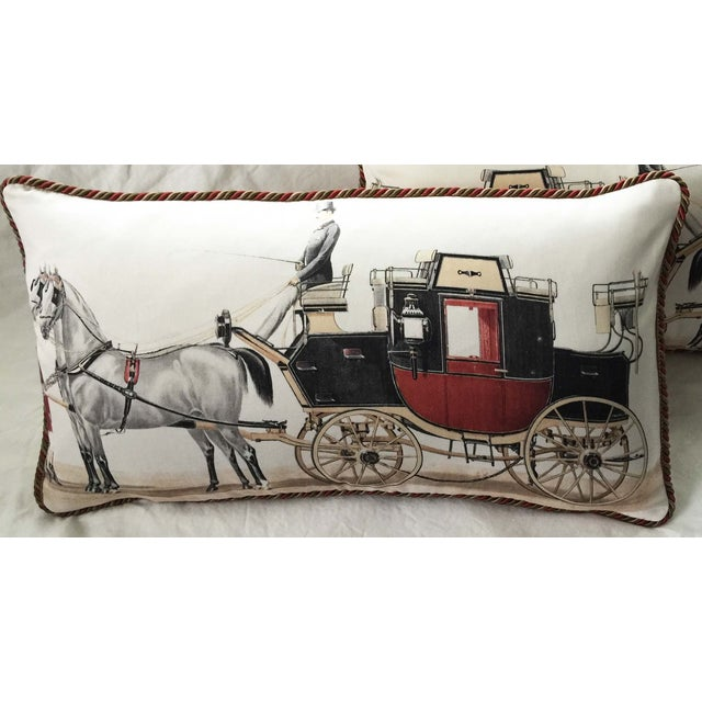 Aranjuez From Madrid Equestrian Accent Pillow - Image 2 of 7
