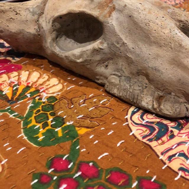 Country Artist Signed Wall Mounted Faux Skull For Sale - Image 3 of 9