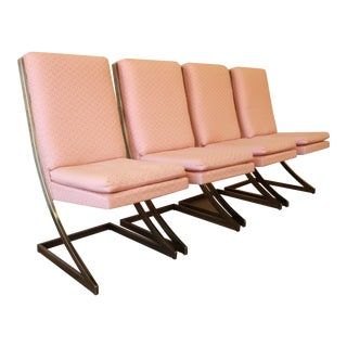 """Baughman for DIA Cantilever """"Z"""" Chairs - S/4 For Sale"""