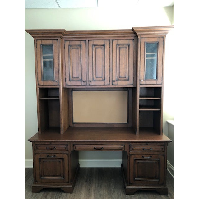 Custom Built Desk With Storage Cabinetry For Sale - Image 12 of 12