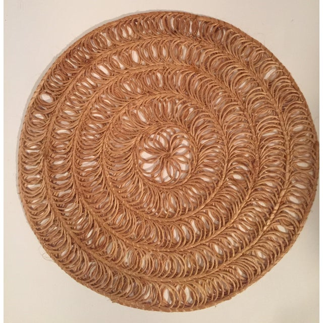 Vintage Round Grass Placemats - Set of 12 - Image 2 of 3