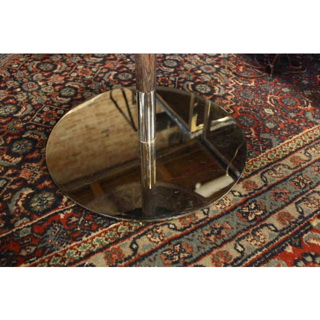 Vintage Zographos Maroon Marble Top Side Table - Image 3 of 5