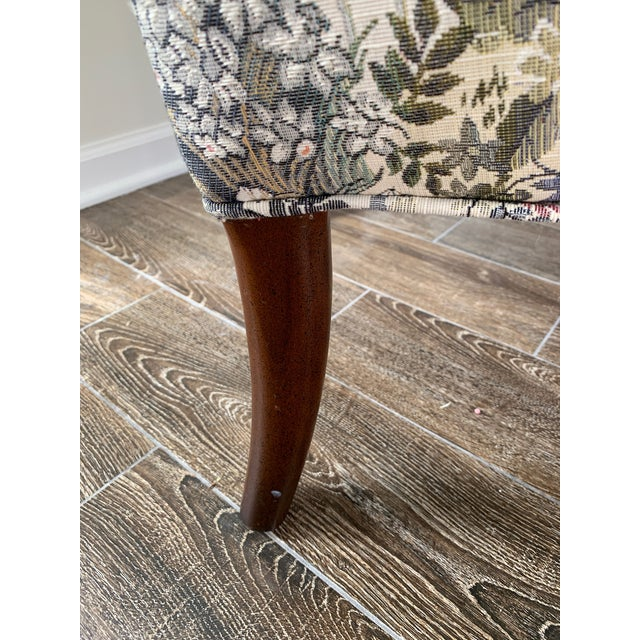 Custom Floral Wingback Chair For Sale - Image 11 of 12